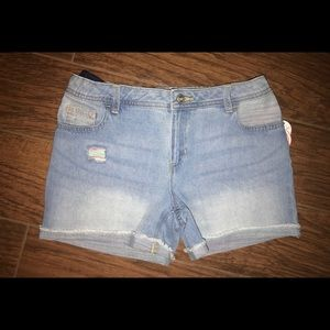 Brand new blue Denim shorts size 14